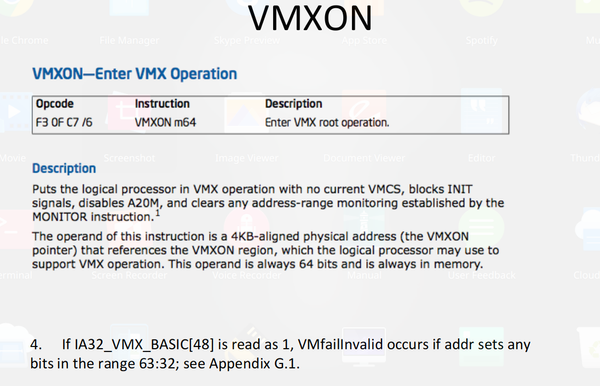 Developing hypervisor from scratch: Part 2 - VMXON Operation